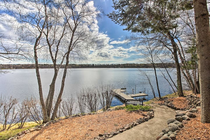 Brainerd Lakes Cabin on 2-Acres w/ Dock & Fire Pit