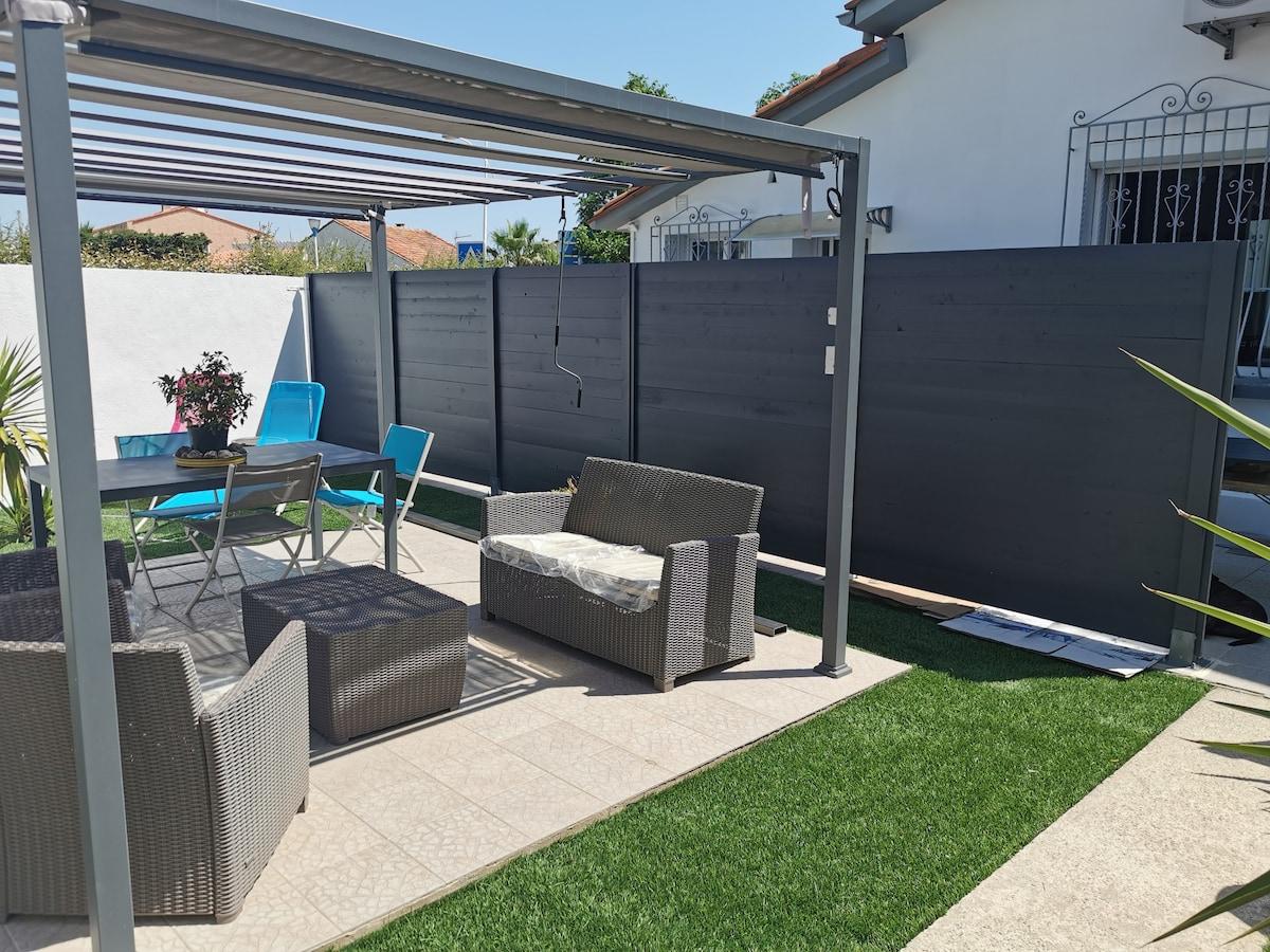studio avec jardin détente