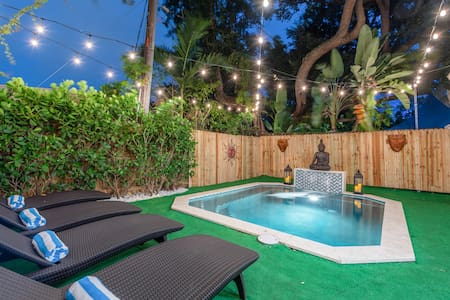 Bohemian Bungalow—Plunge Pool 10min from SB