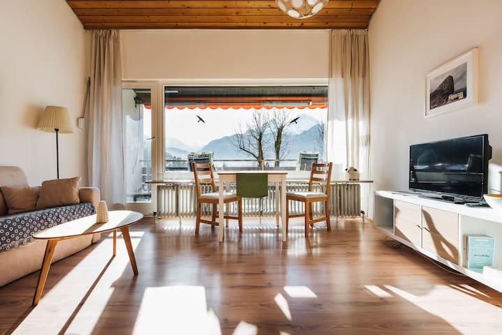 Studio für 2 mit Südbalkon und tollem Bergblick