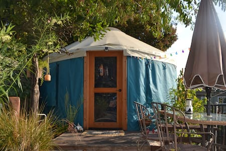 Private yurt in cozy and enchanting garden setting