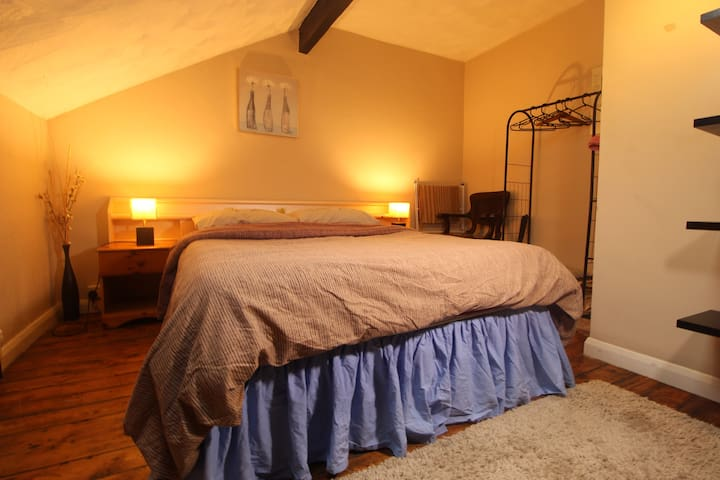 Lovely warm room with private bathroom