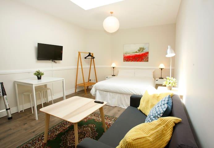 Studio @ Connolly Grn Floor + Wifi + TV
