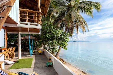 THE NEST ❤ Charming BeachFront 2/3Br Home Hin Kong
