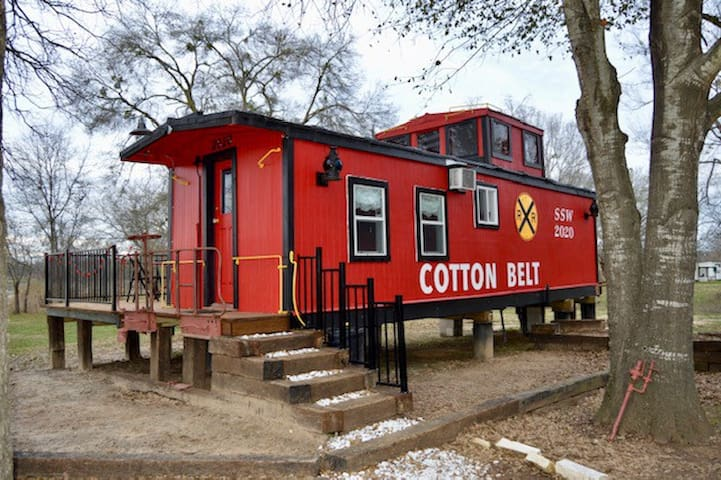 1920's Vintage Caboose on Lake Limestone in Texas