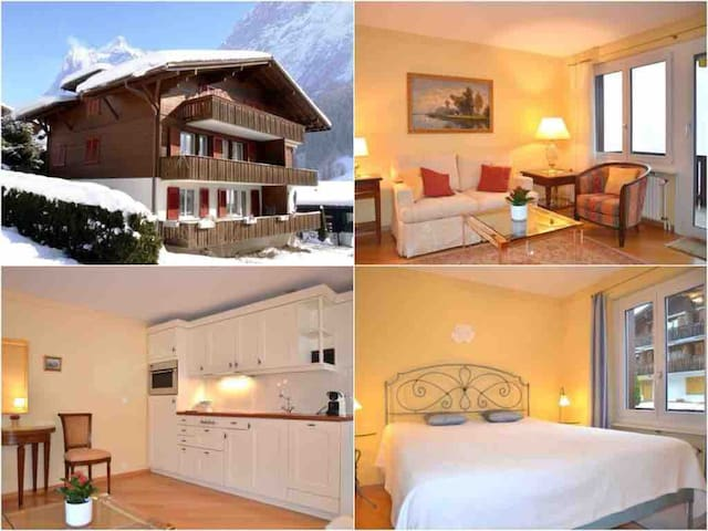 Cozy & bright home in the heart of Grindelwald