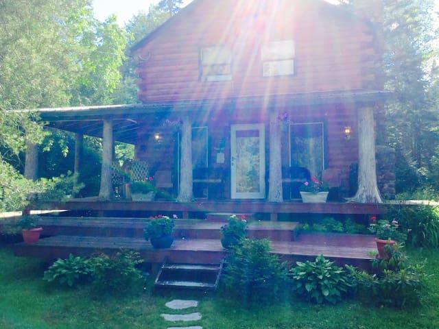 Log Cabin Adirondack Lodge on State Trail System