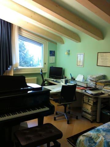 Schio stanza azzurra in collina. Room on the hill.