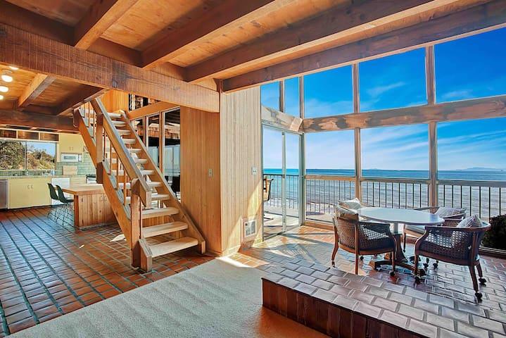 Oceanfront Summerland Beach House, Sweeping Views