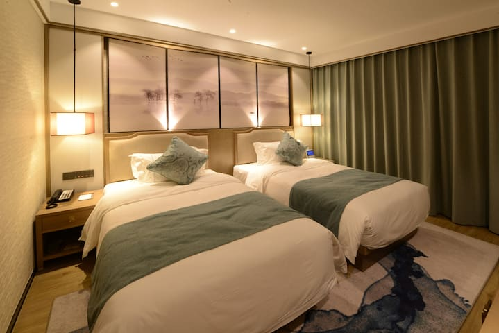 杭州西溪元茂福楼标准双床房