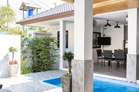 2 Bedrooms private pool villa, near Naiyang beach.