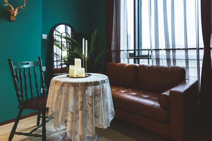 「青小蜜 ·容颜」 浙大紫金港附近复古风精装loft 近银泰 地铁口 去西湖20分钟 随机排房