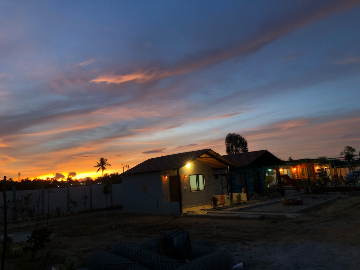 Private Farm Stay near Bangalore with 3 Cottages