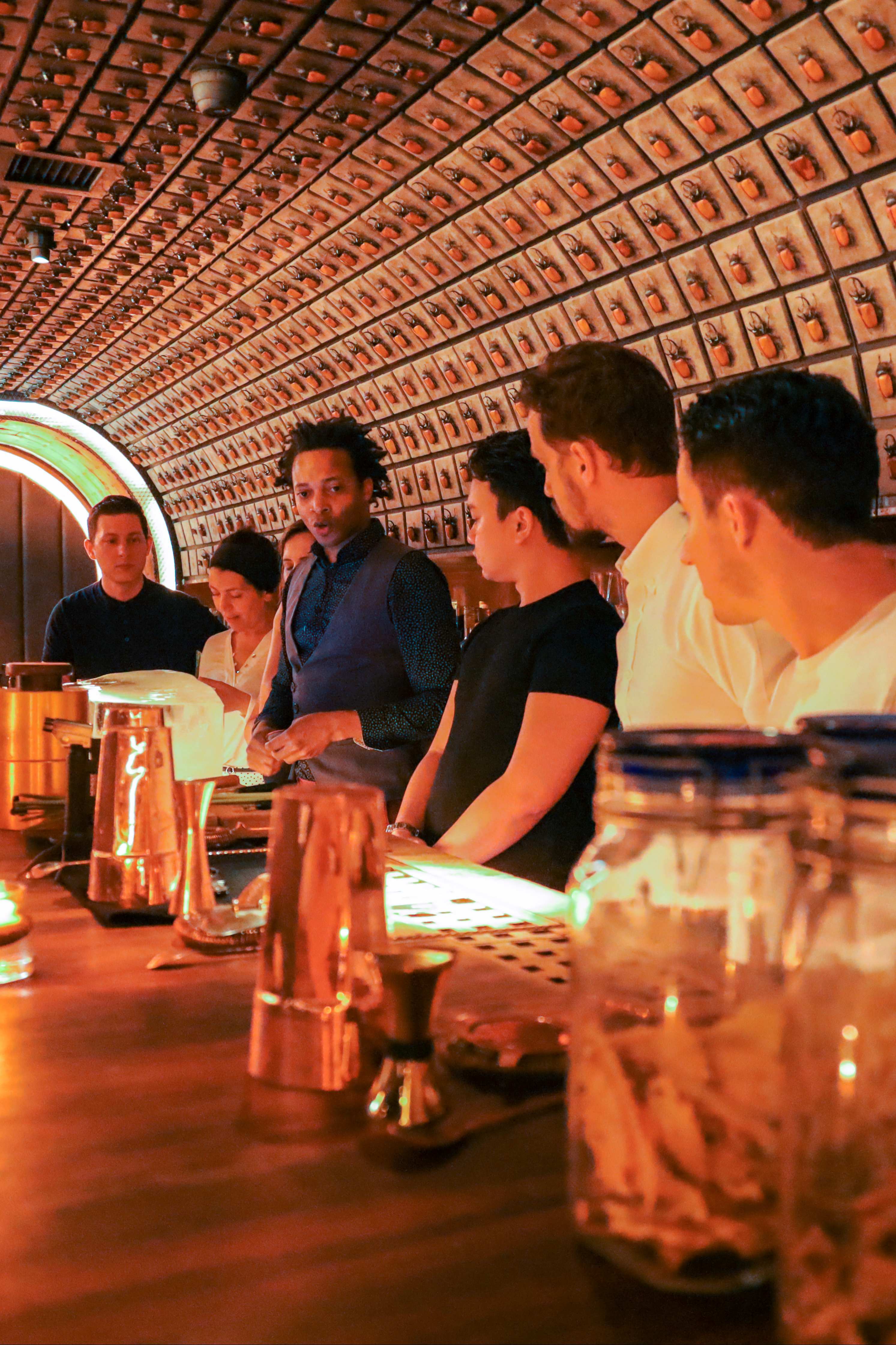 Step behind the bar with your new moves