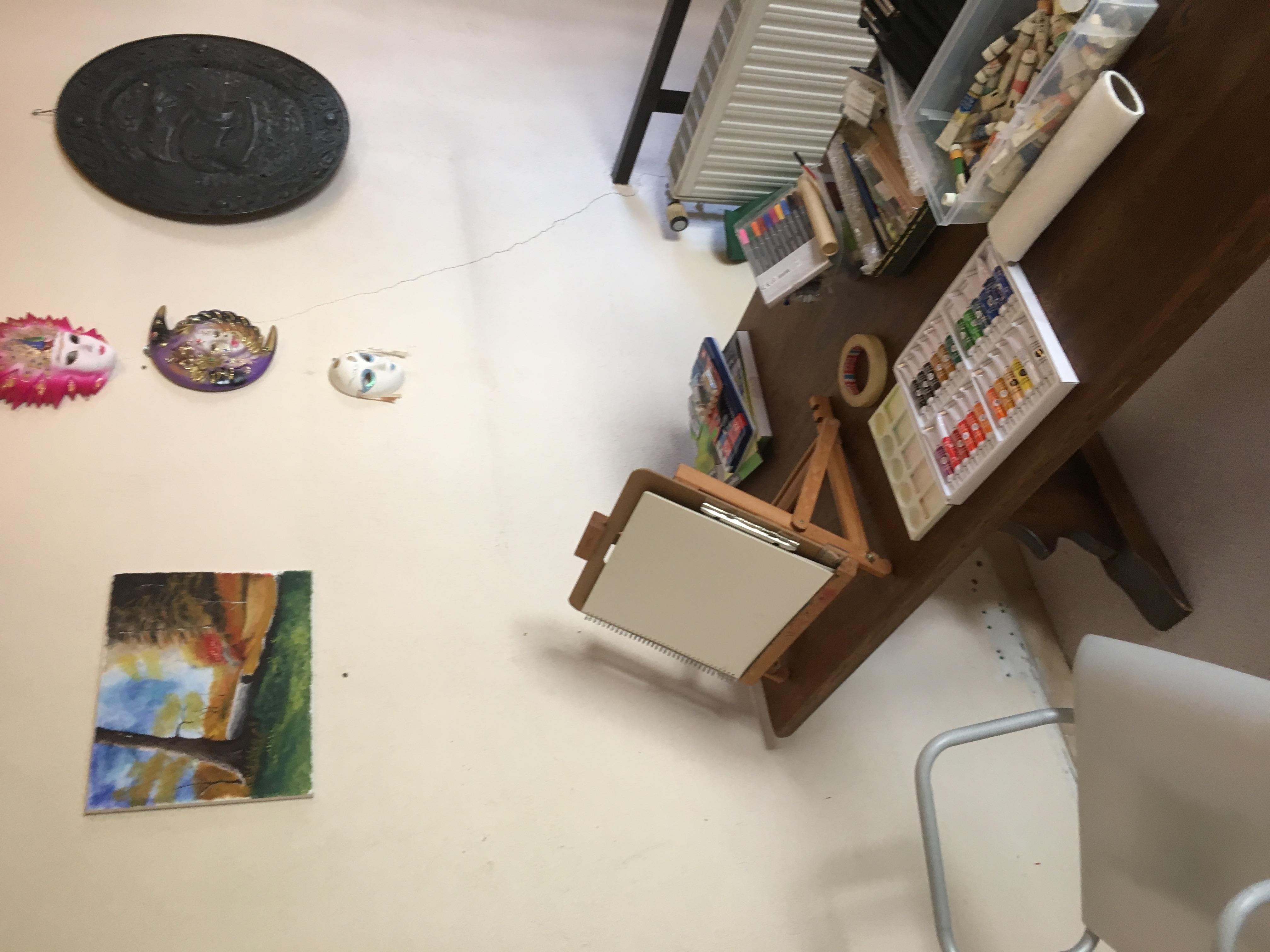 Water colour work station