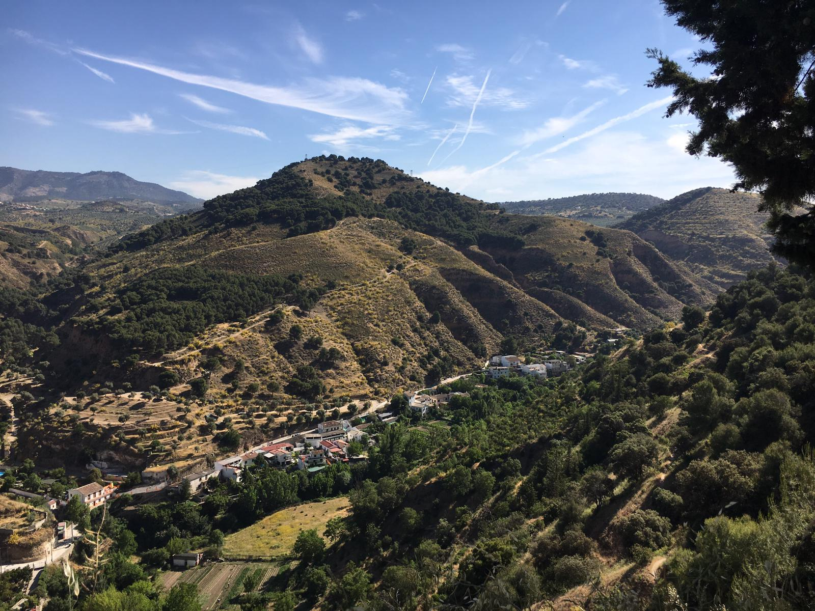 Sacromonte from the hike above Alhambra