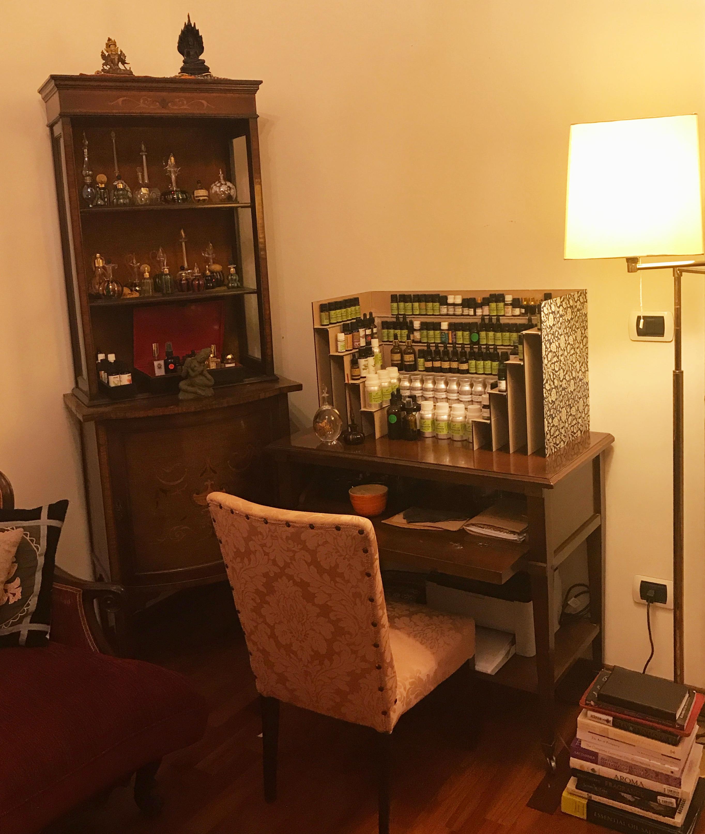 My perfumer's work desk