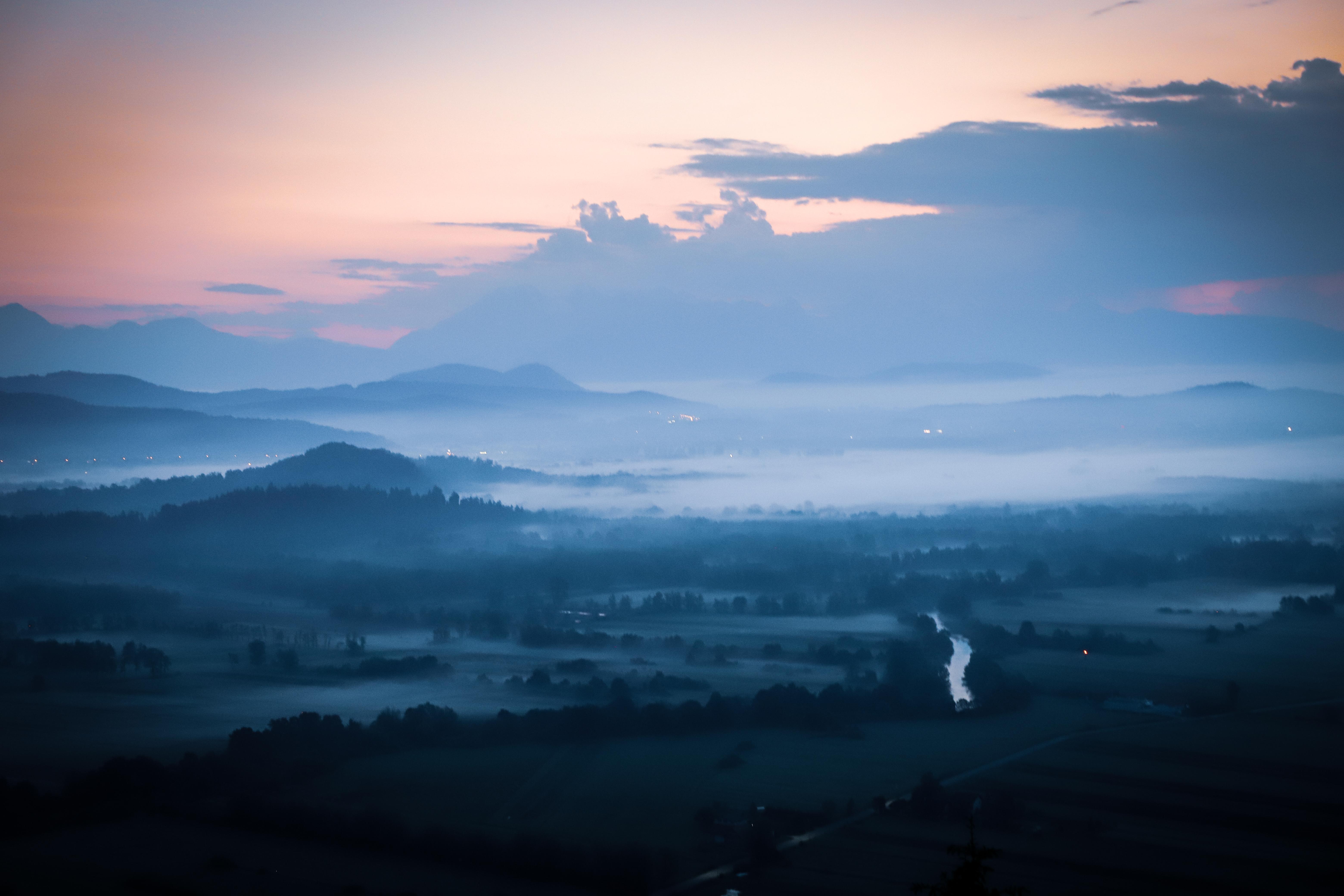 Misty mornings above Ljubljana