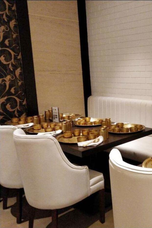 Traditional Gujarati lunch.
