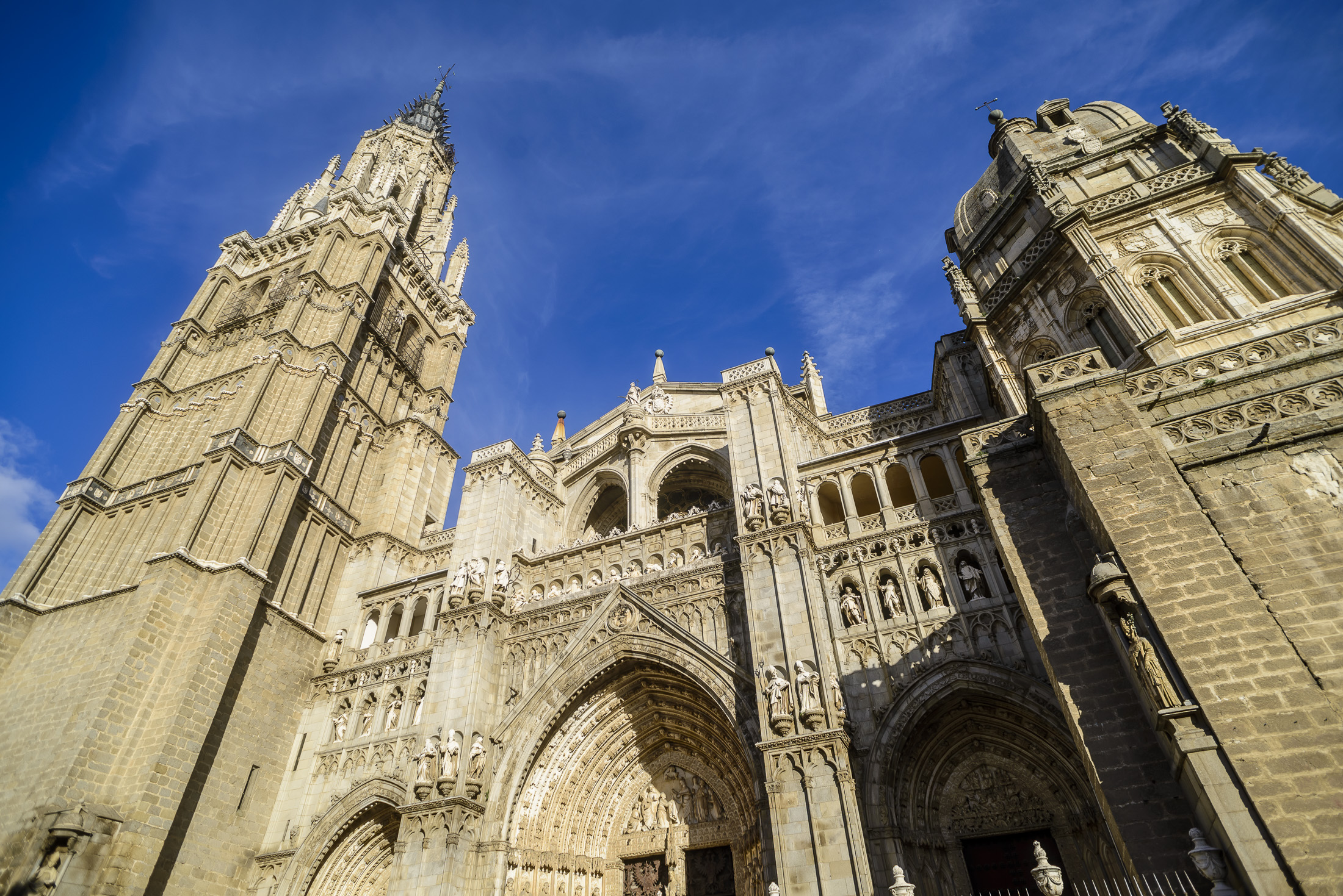 Toledo's Cathedral from below