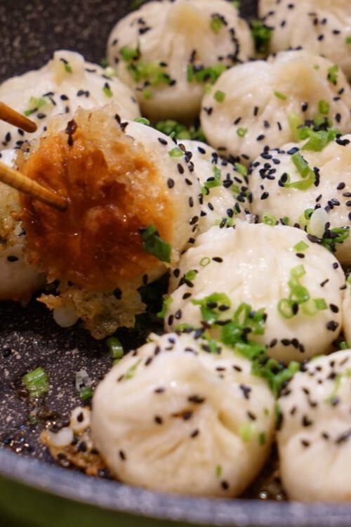 We also make fried soup dumplings.