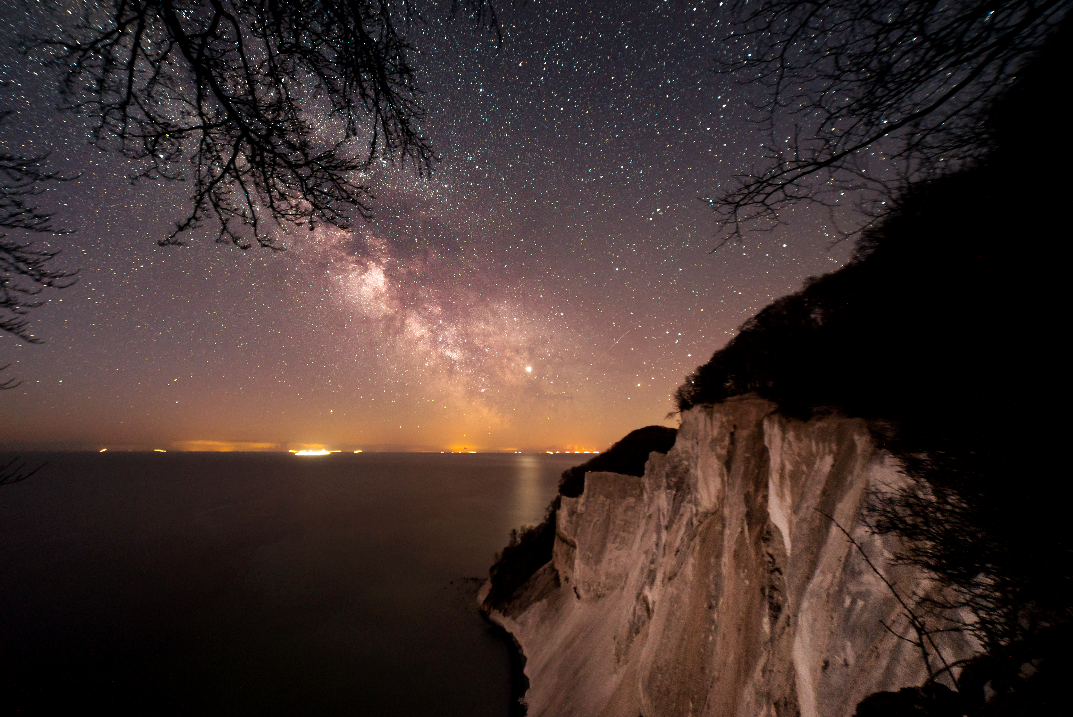 Night at Møns Klint