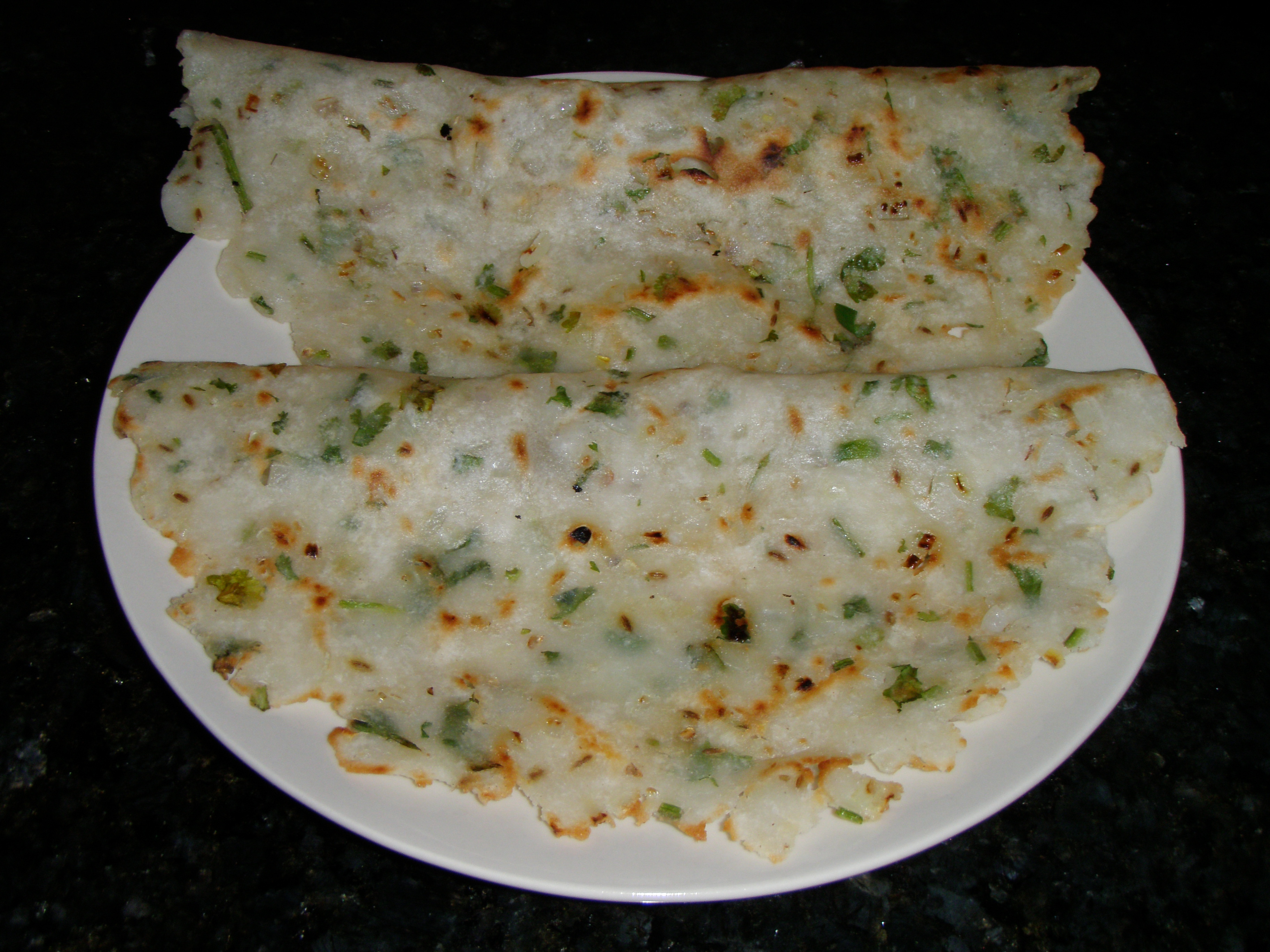 Rice flour Bread with grated vegetables