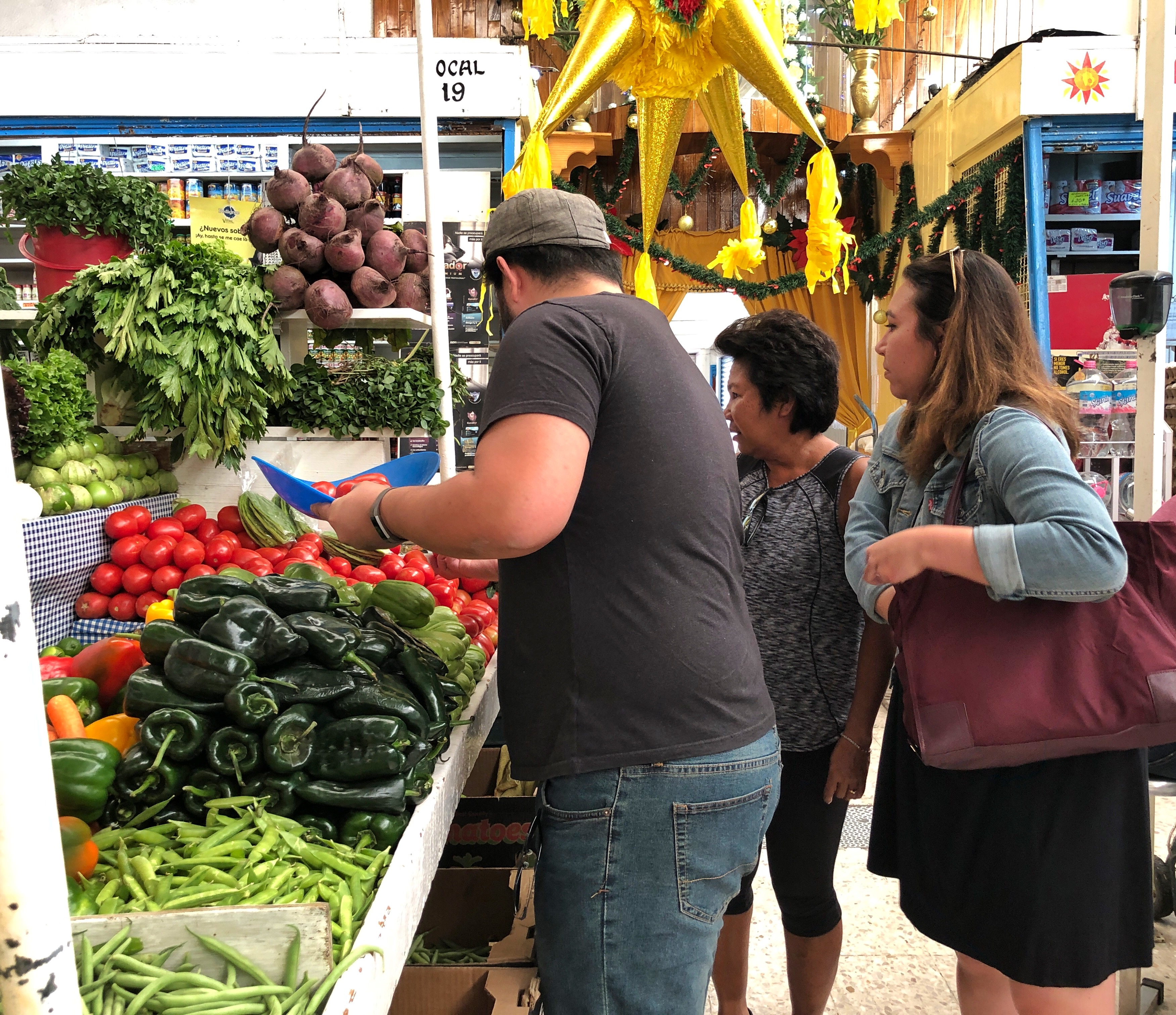 Selecting our delicious fresh vegetables