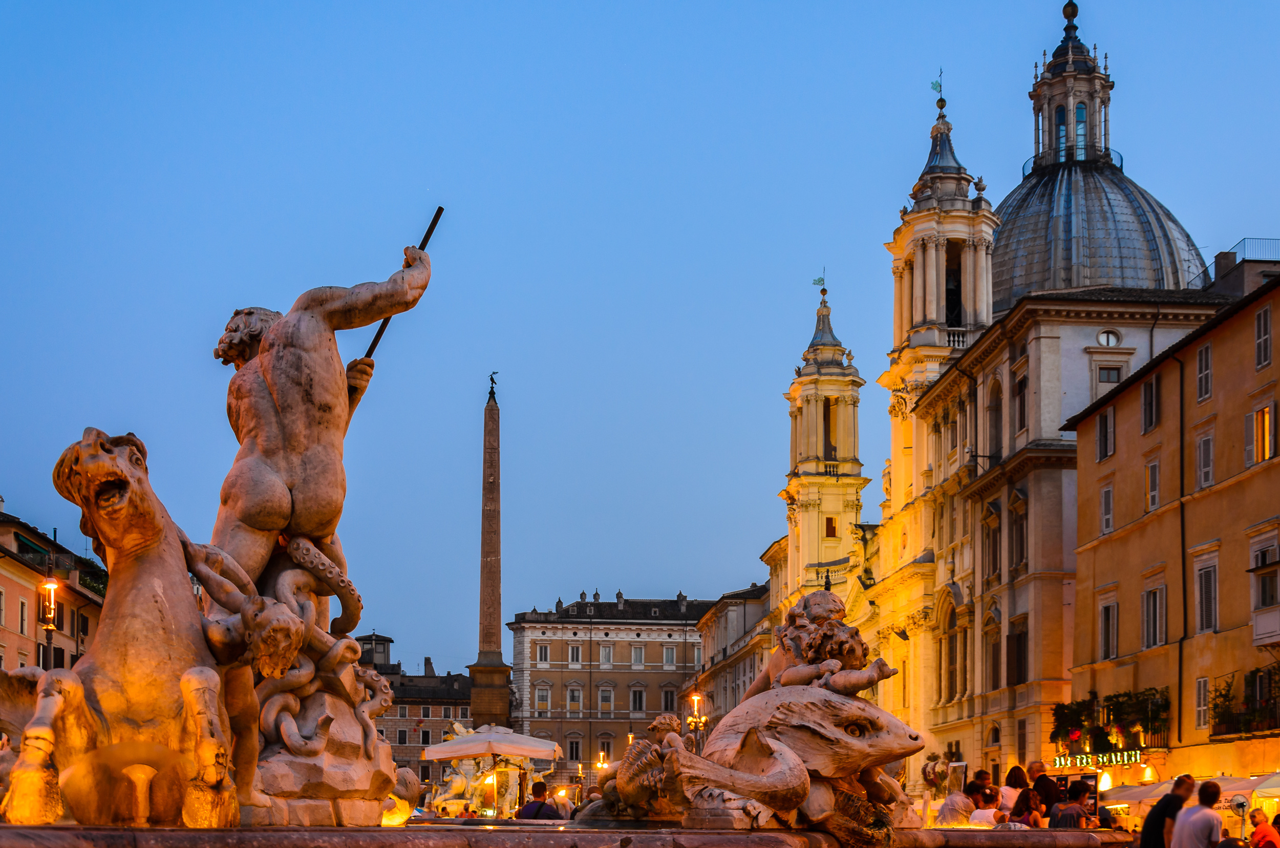Piazza Navona in the evening