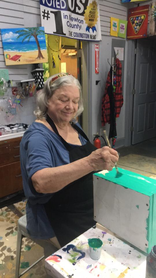 Painting a Square Foot Box