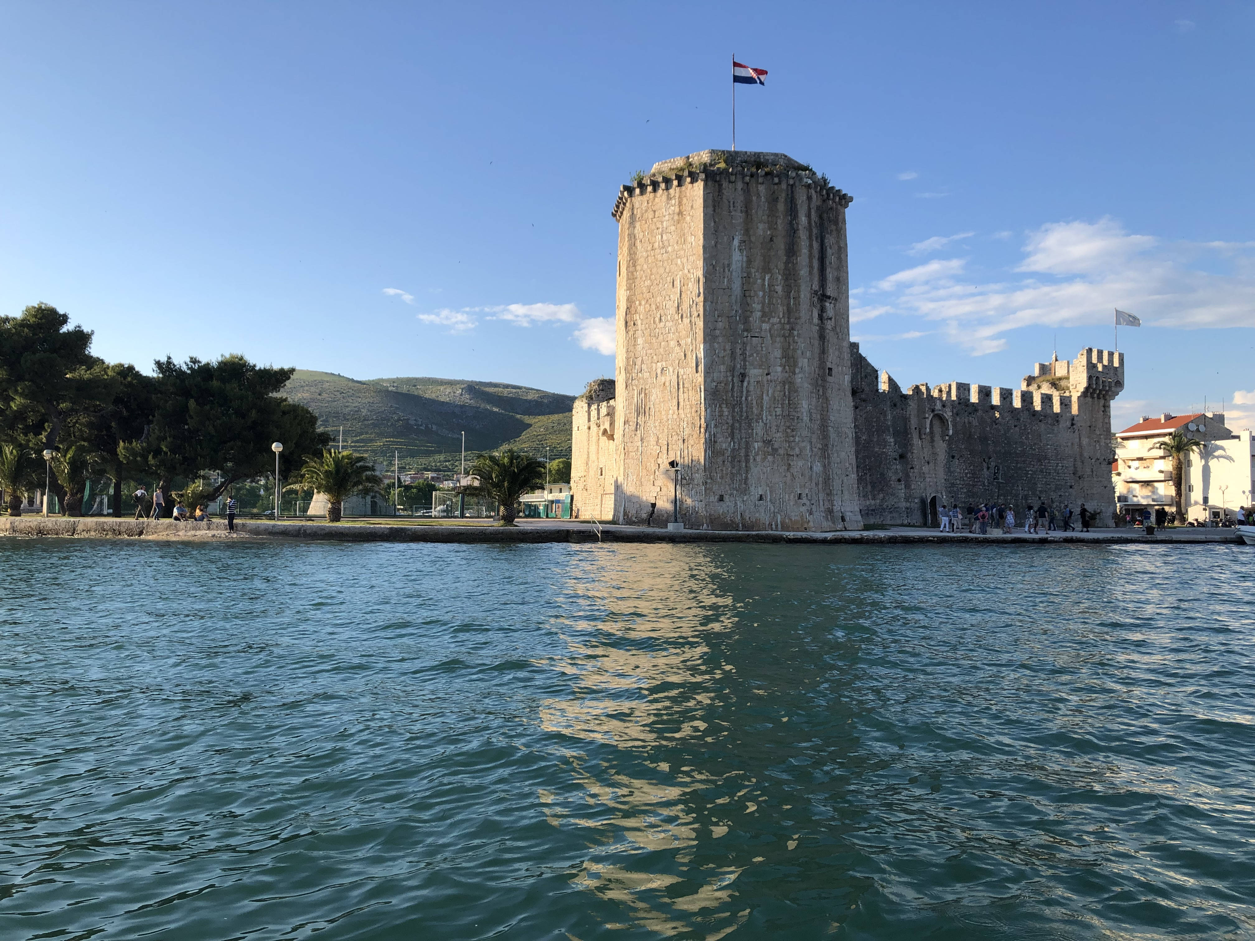 Old town Trogir, from sea