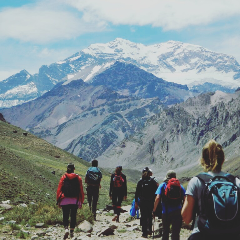 Hikking in the Andes