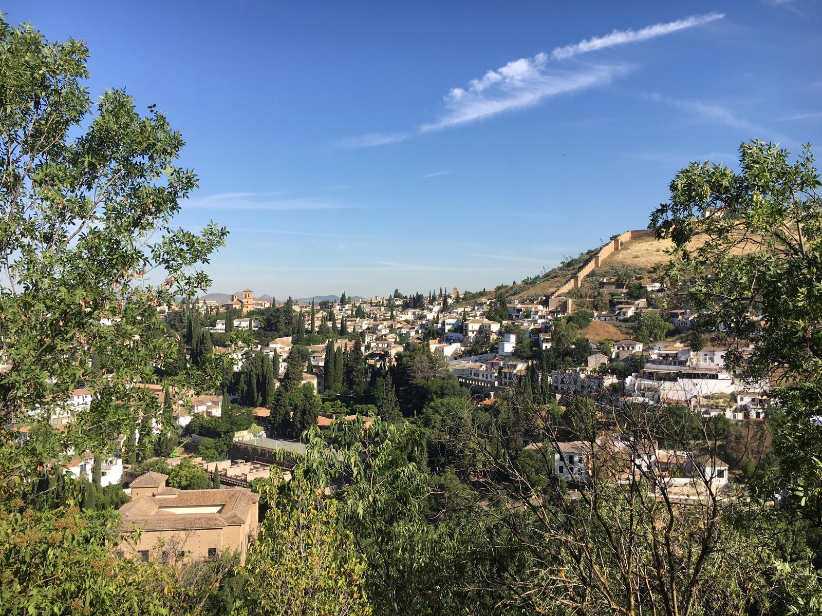 Albaicín from the hike above Alhambra