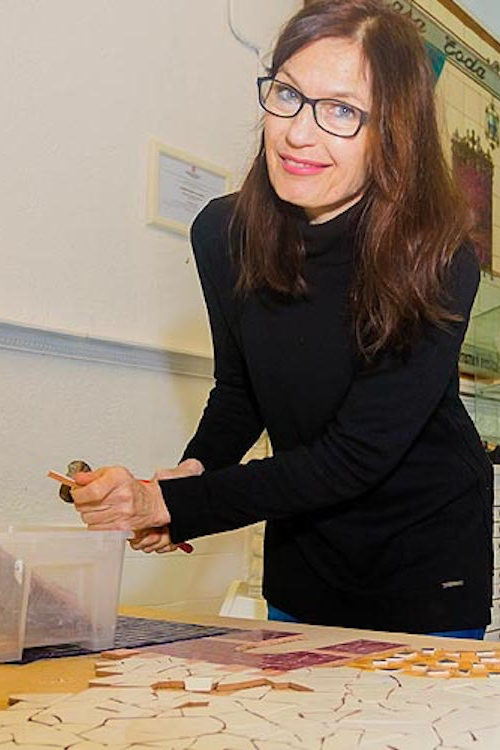 Angelika in her workshop