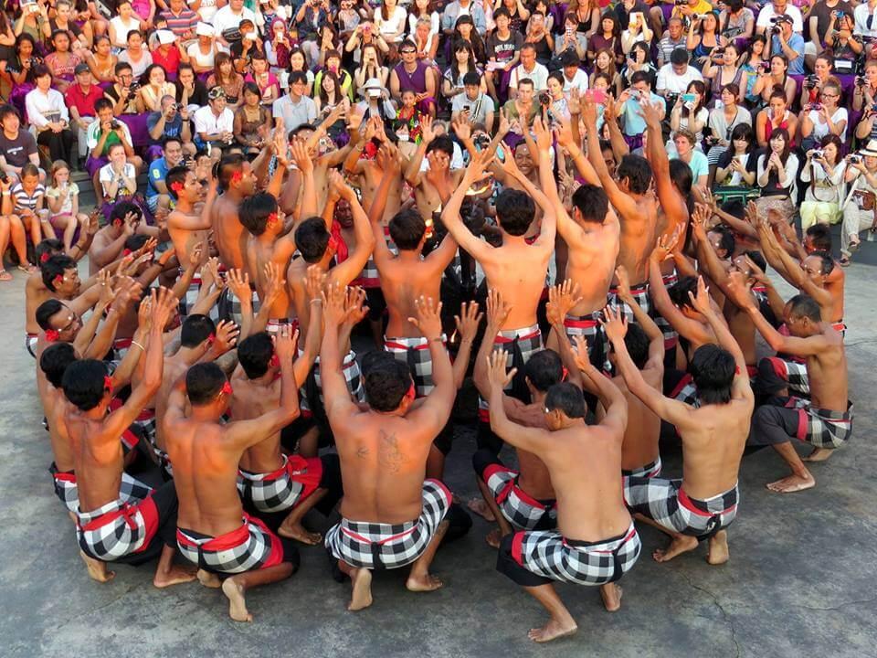 Kecak fire dance at uluwatu temple