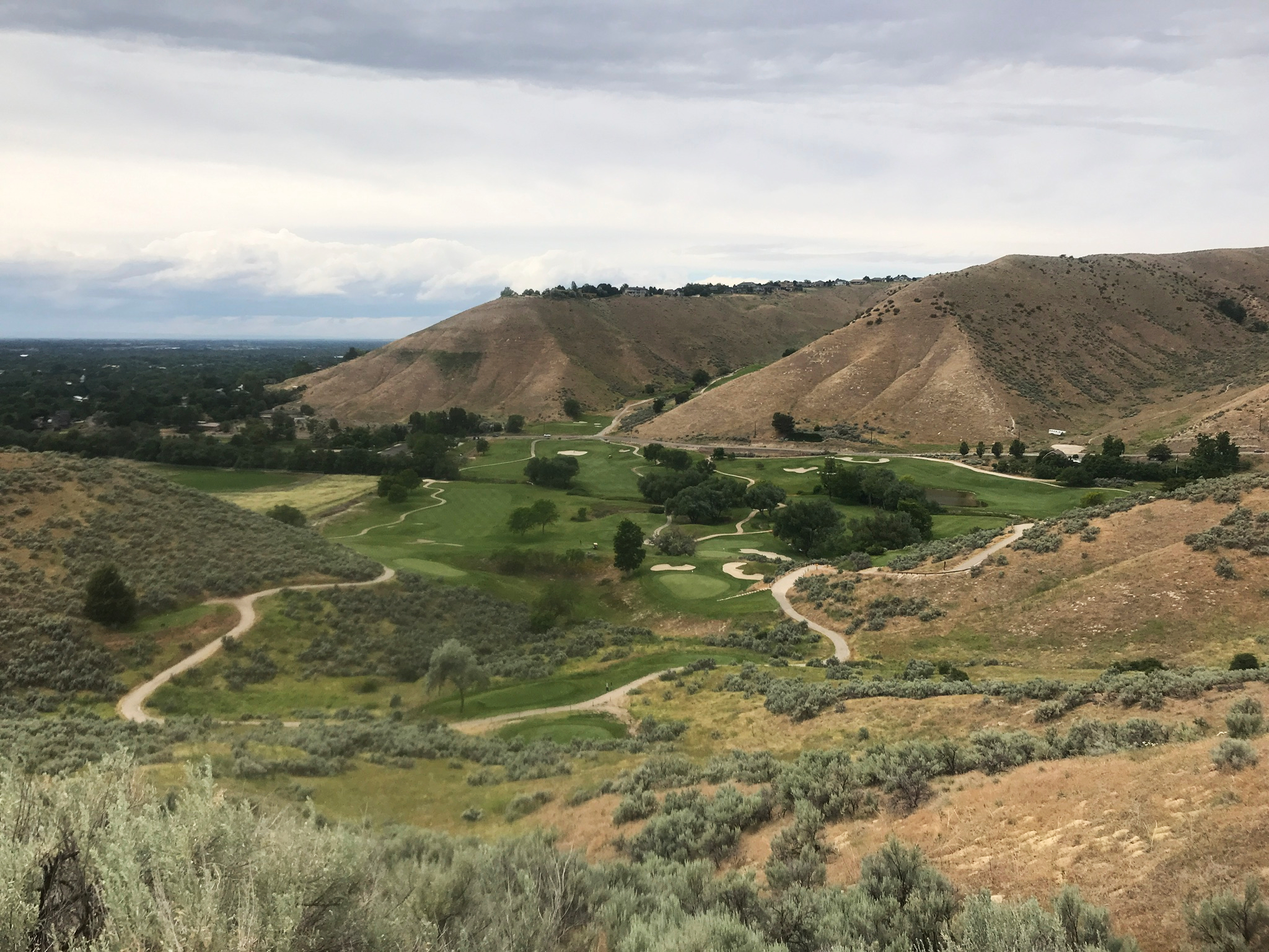 Golf course view from Highlands Trails
