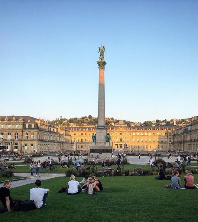 Das Zentrum der Stadt: Der Schlossplatz