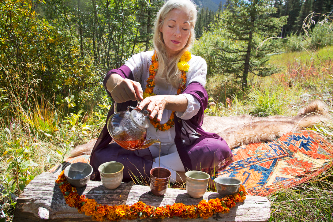 Tea Ceremony with Nature's Song...