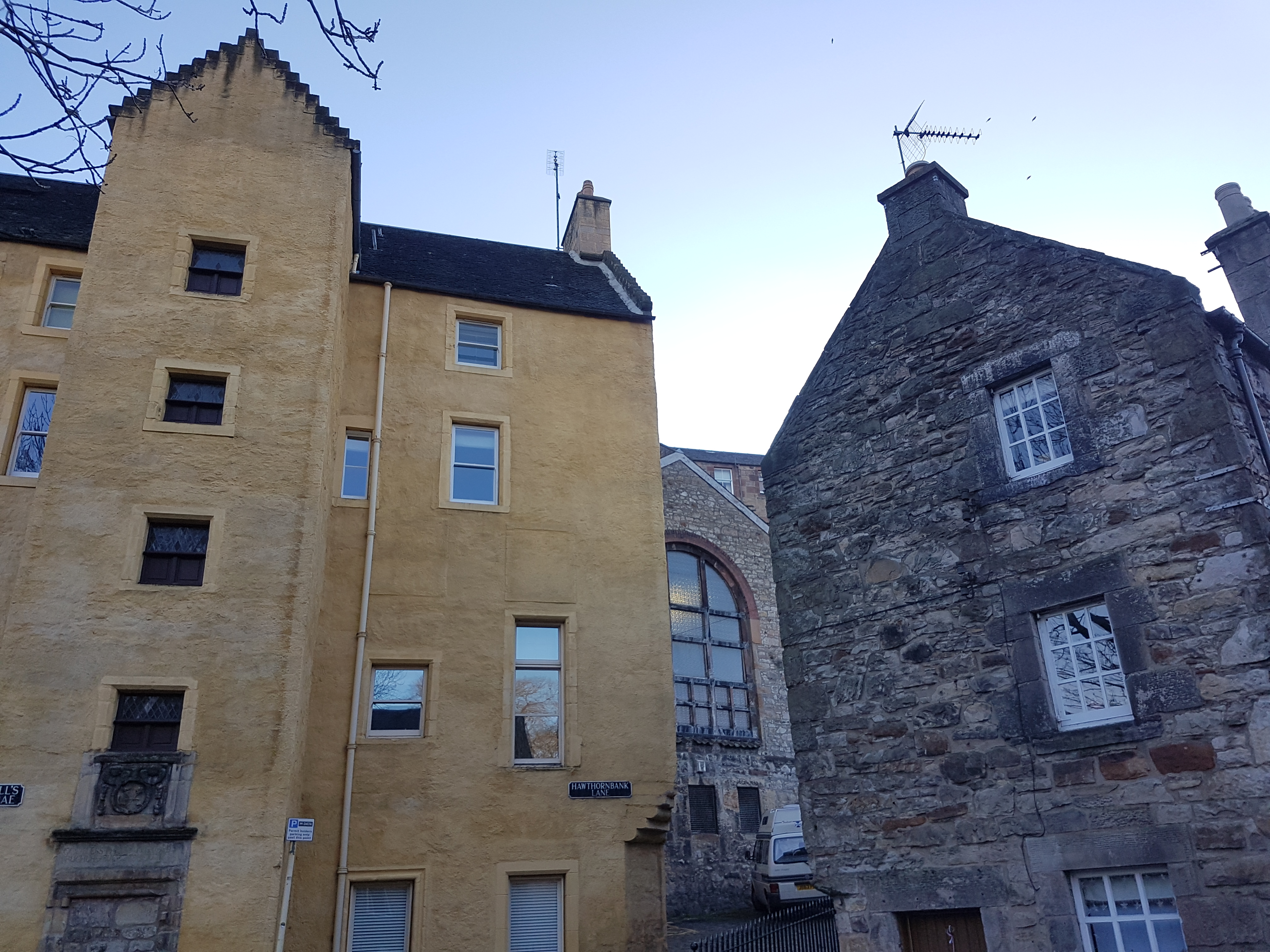 The Old Tolbooth (1675) in yellow