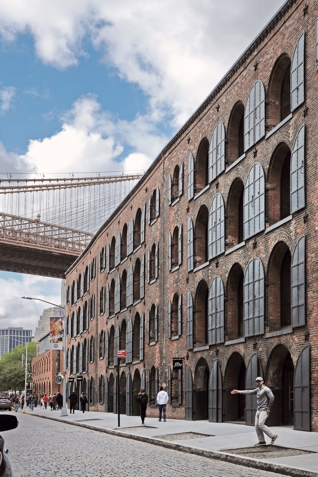 Warehouse district with bespoke shops