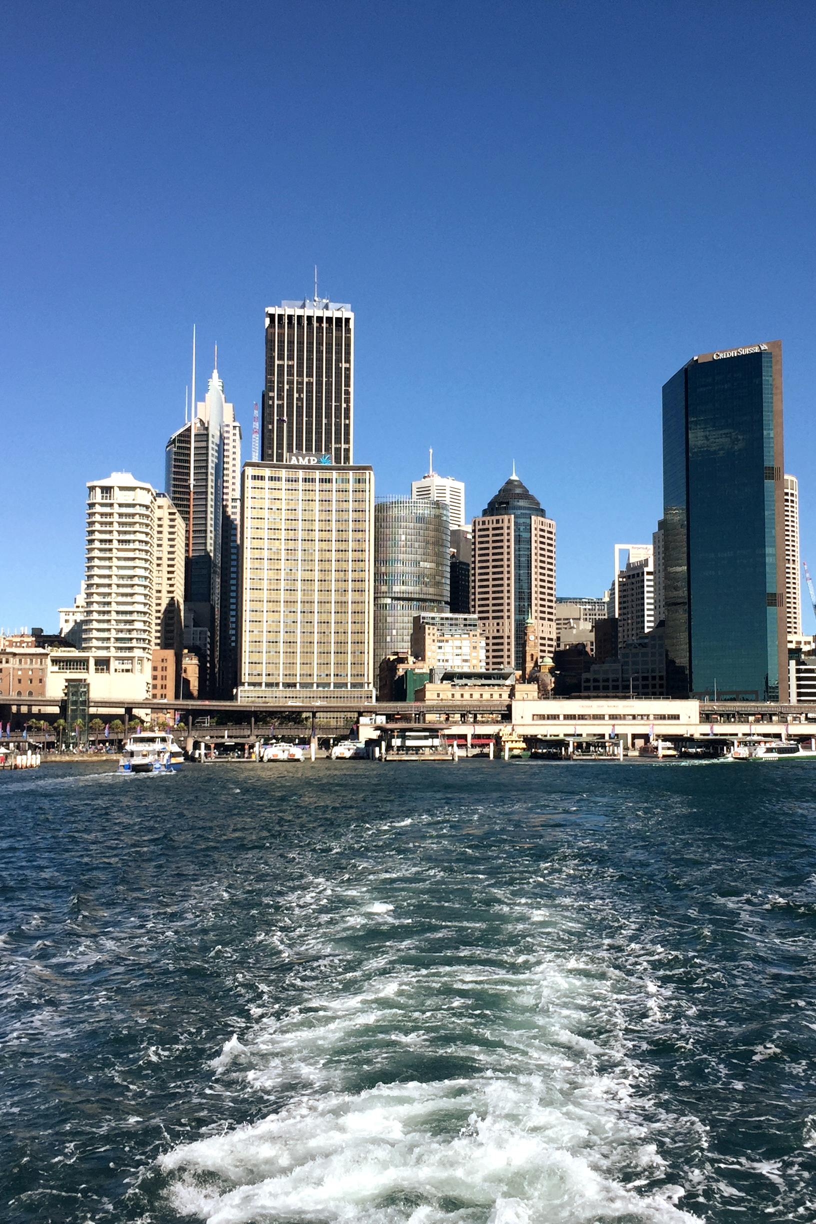 The view of Circular Quay from the ferry