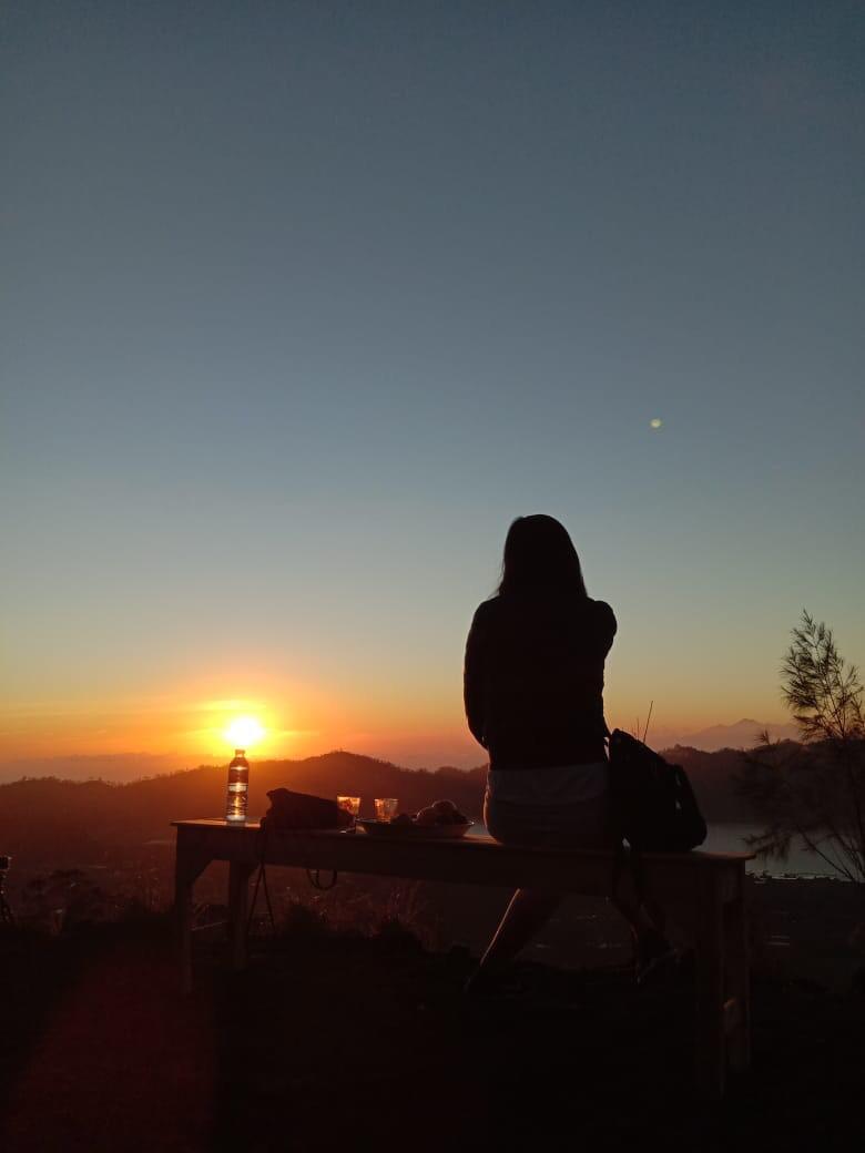Moment when a sunrise