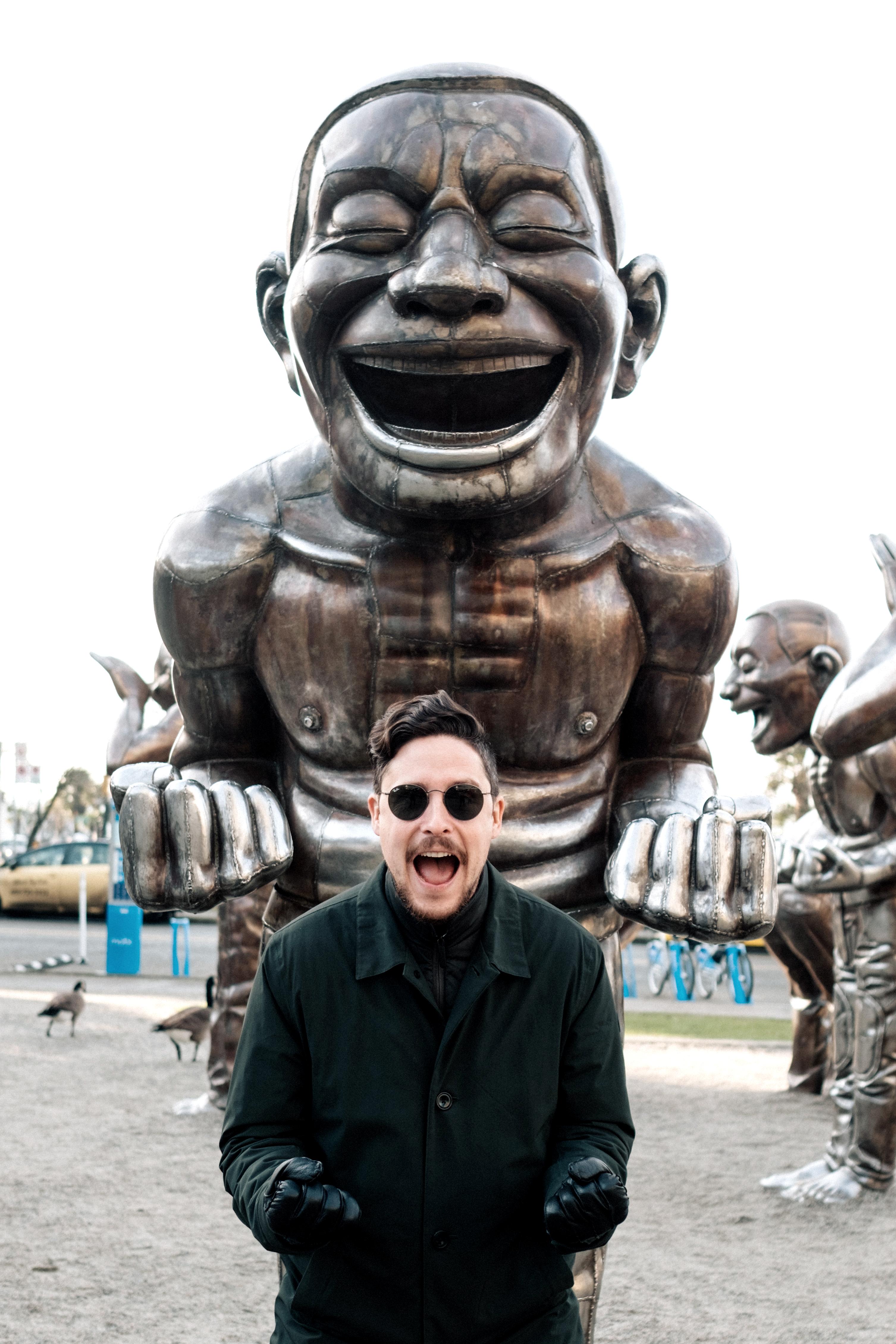 A-maze-ing Laughter pose