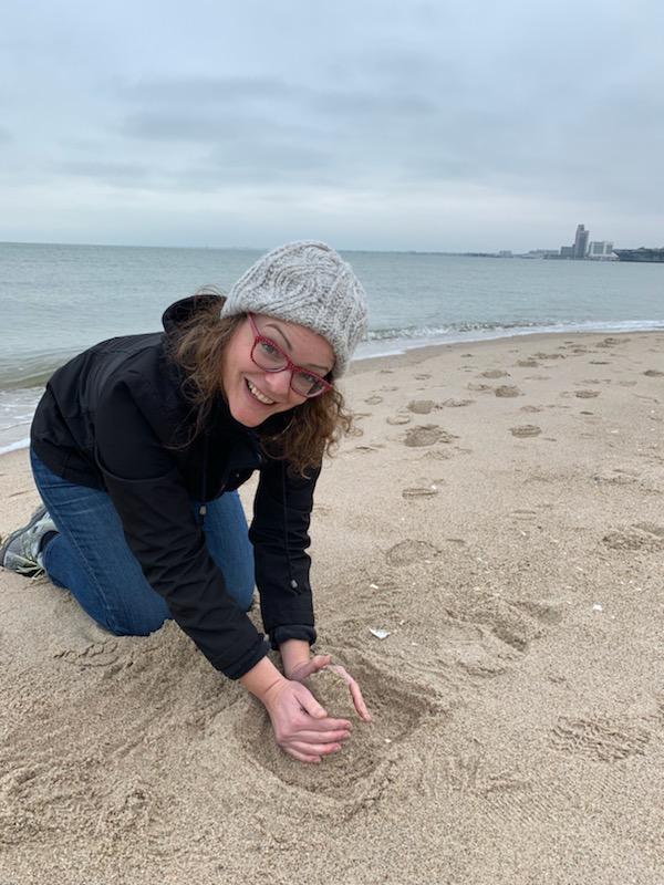 Guest undertaking sand castle challenge!