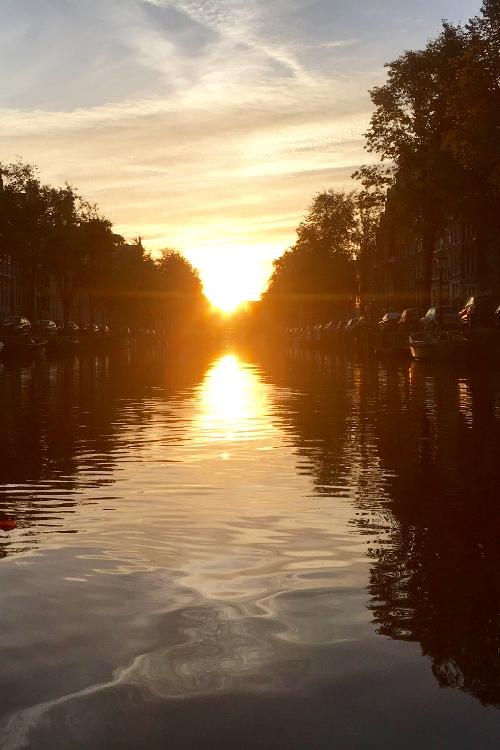 Sunrise Amsterdam canals