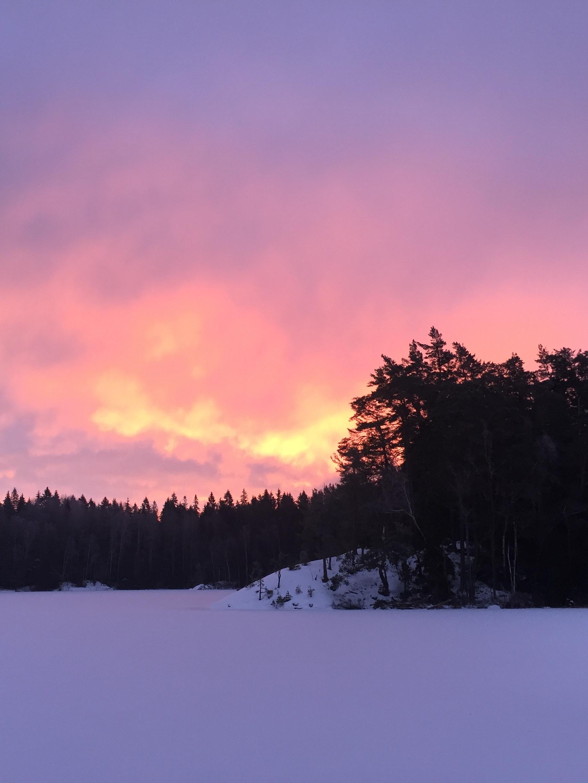 Sunset View Winter