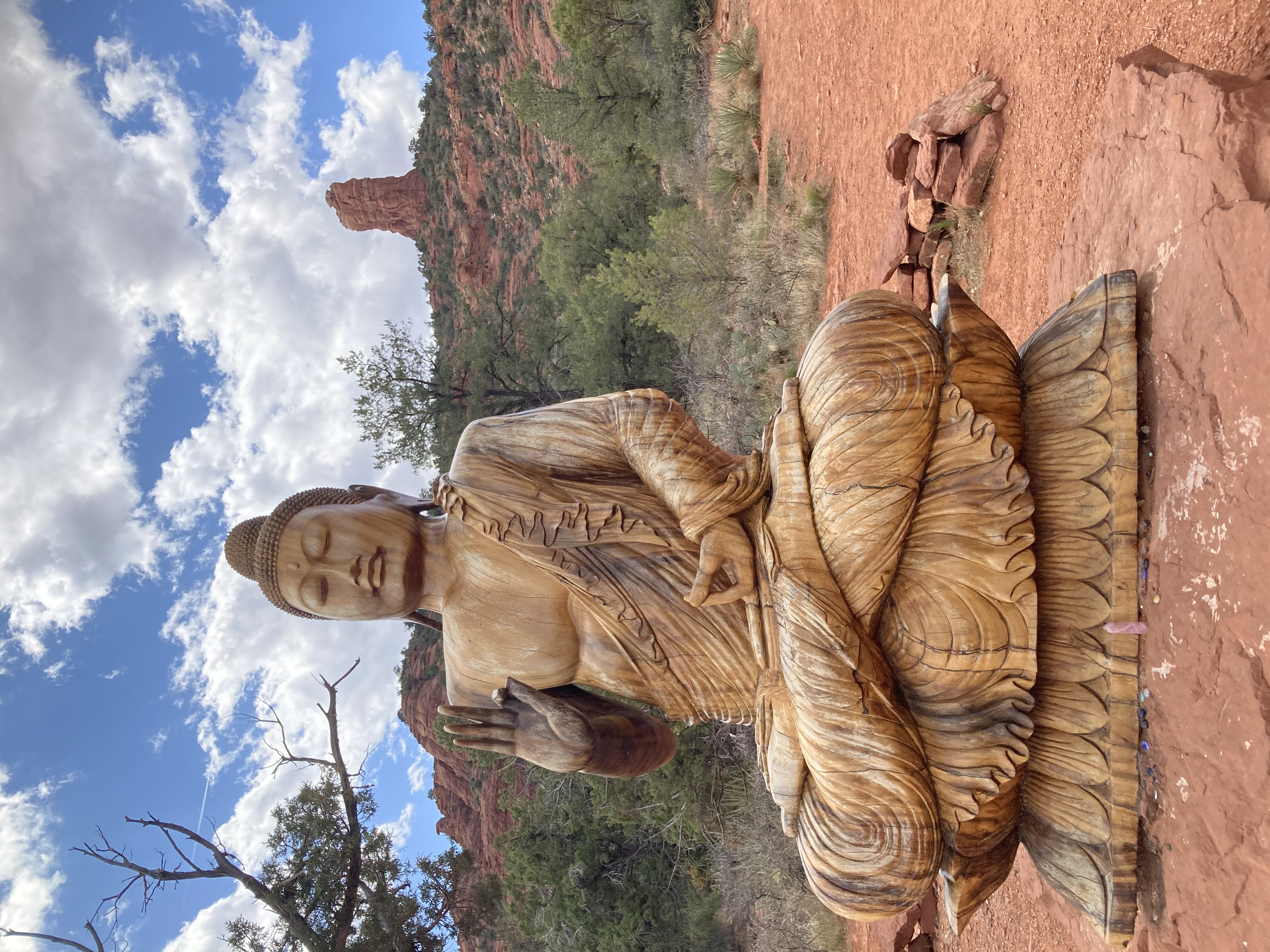 Buddha at chimney rock Sedona