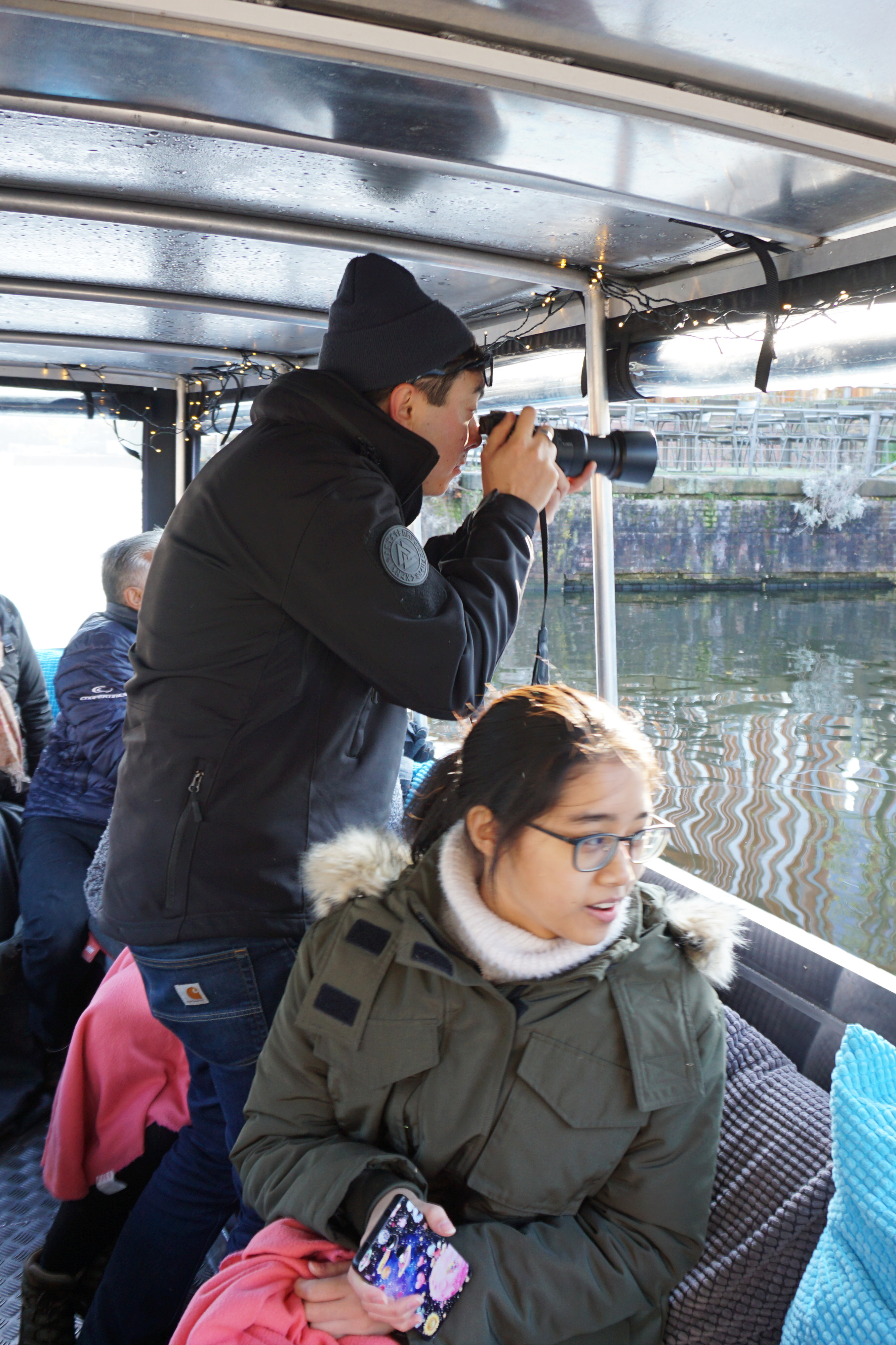 Making a picture on the canals