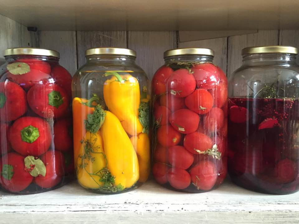 Fermented tomatoes (Russian style)