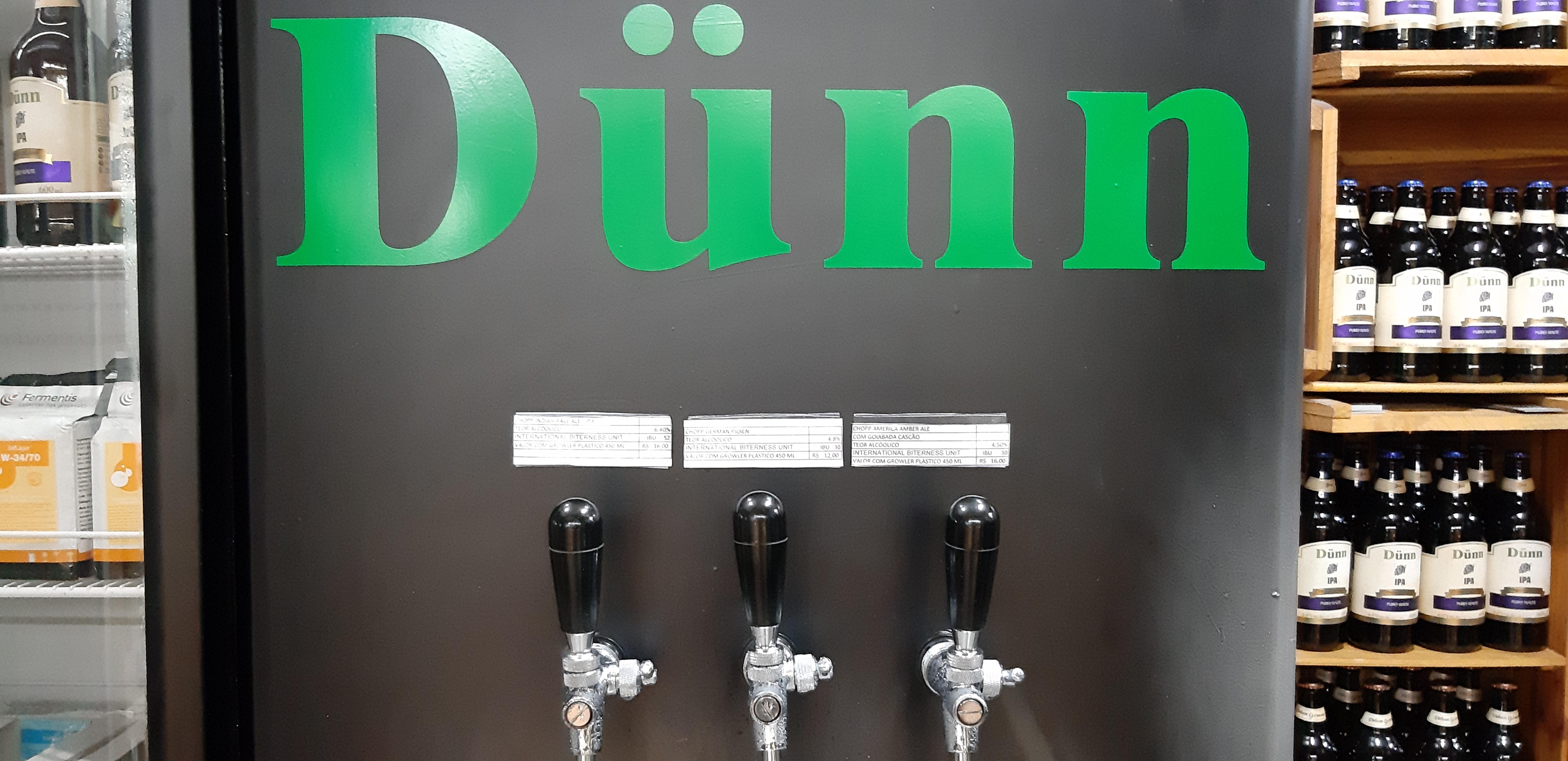 Cerveja artesanal geladinha na Dunn